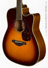 Yamaha FGX720 SCA Acoustic guitar burst finish - angle