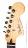 Fender Blacktop Jaguar B90 Red - front of headstock