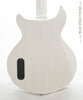 Collings 290 DCS electric guitar white, back close up view