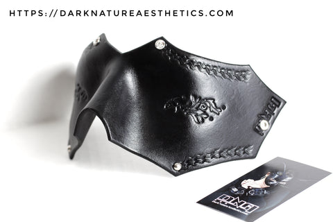 """Deep Abyss"" Avina Leather Blindfold with Swarovski Crystals"