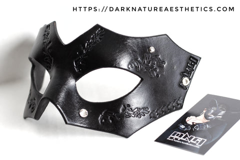 """Deep Abyss"" Magna Leather Mask  with Swarovski Crystals"