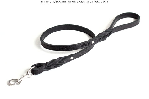 """Carnal Sins"" BLACKout Leather Bondage Leash"