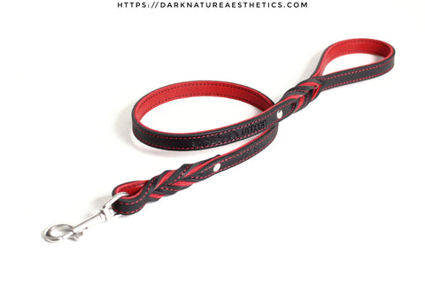 """Carnal Sins"" Bloody Leather Bondage Leash"