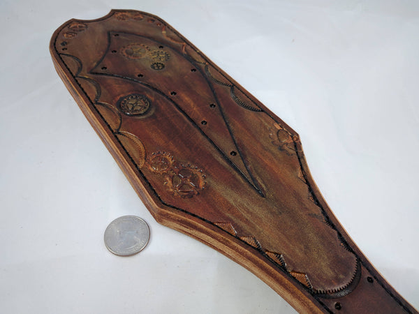 "Heavy Leather Bdsm Spanking Paddle ""Steampunk Bottom"""