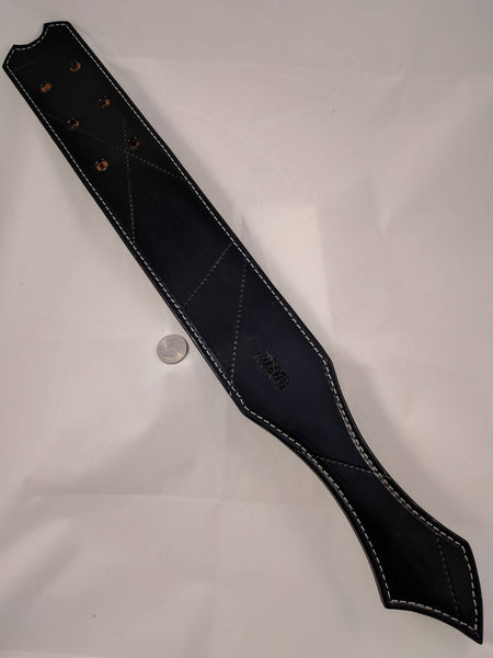 "Prison Strap Heavy Leather Bdsm Spanking Paddle ""Classic Black"""