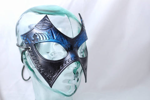 Blue Devil Leather Mask