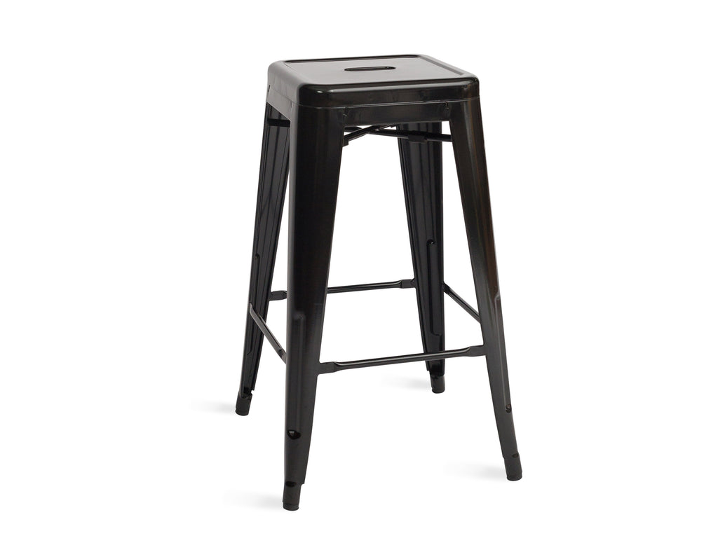 Black Metal Stool - The Everset