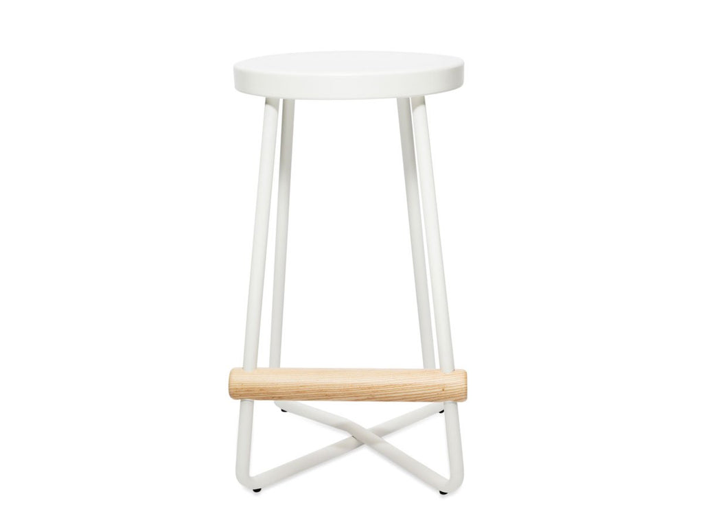 Simple White Stool - The Everset