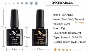 Quick Dry UV Nail Gel - Top and Base Coat - MyShopSpot