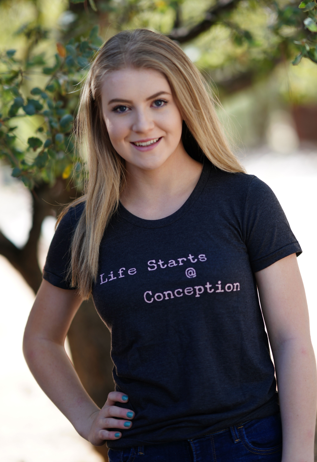 Life Starts @ Conception Women's Crew Neck T-shirt