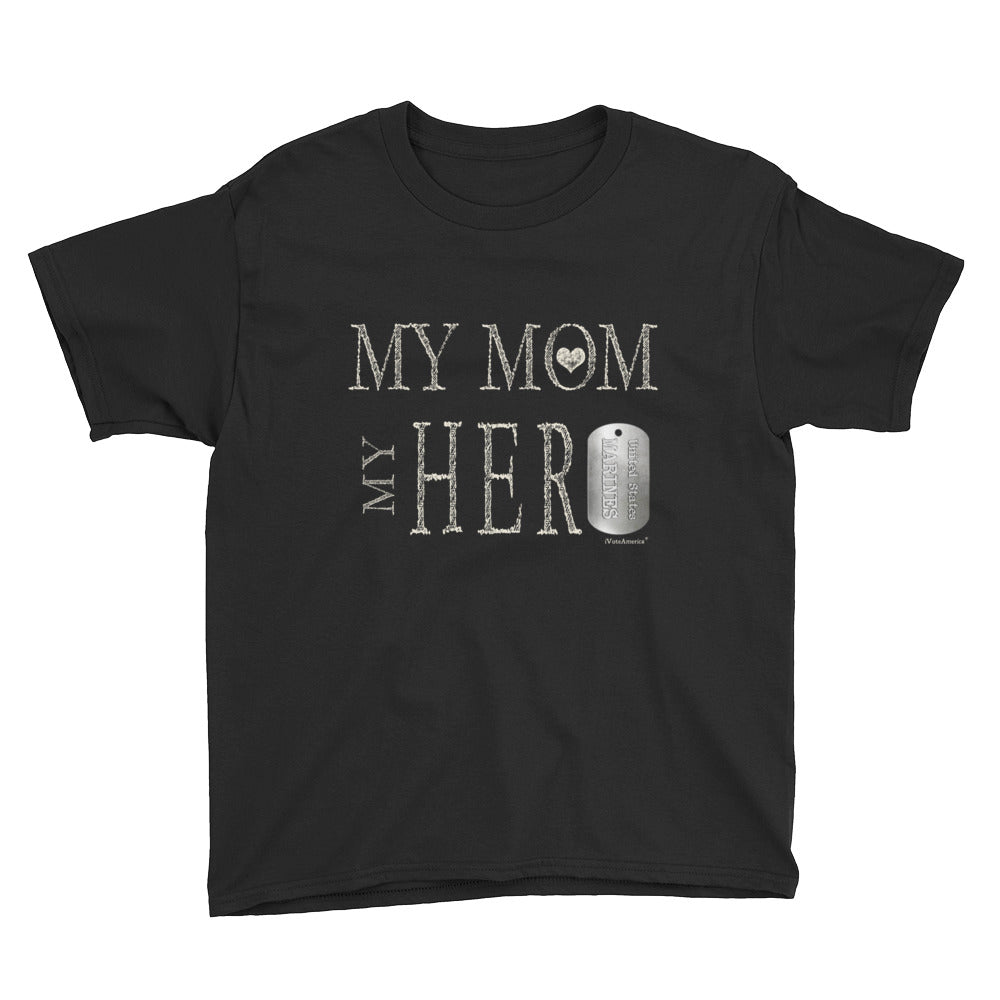 Marines, My Mom My Hero Youth Short Sleeve T-Shirt