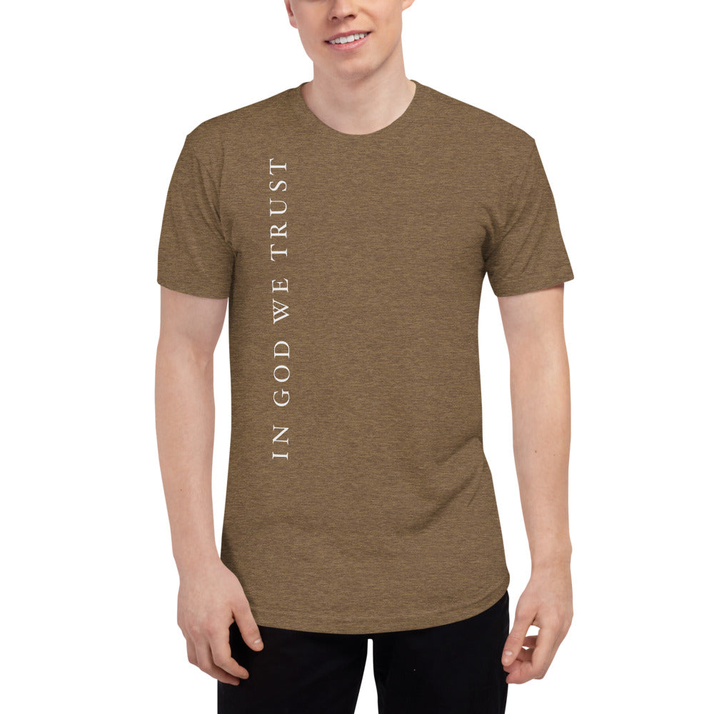 In God We Trust Tri-Blend Track Shirt