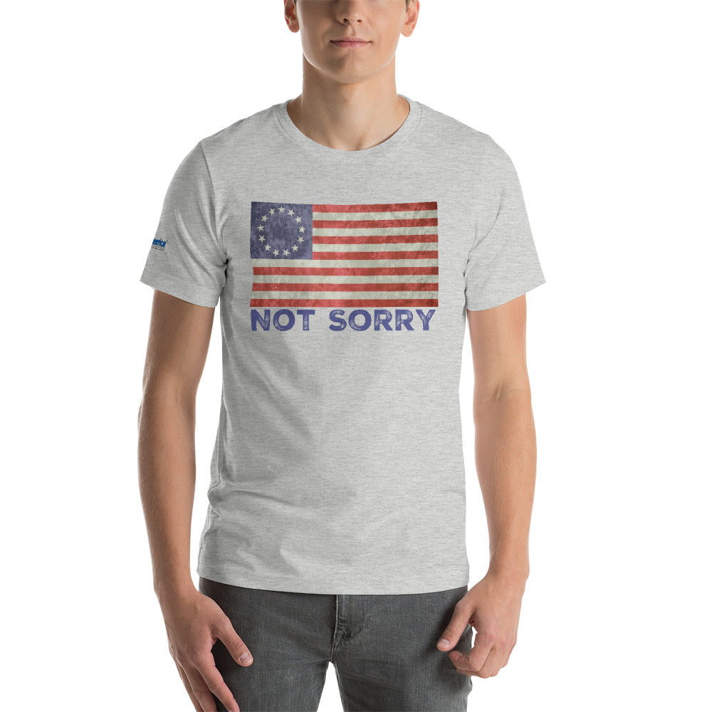 Not Sorry, Betsy Ross Flag Short-Sleeve T-Shirt