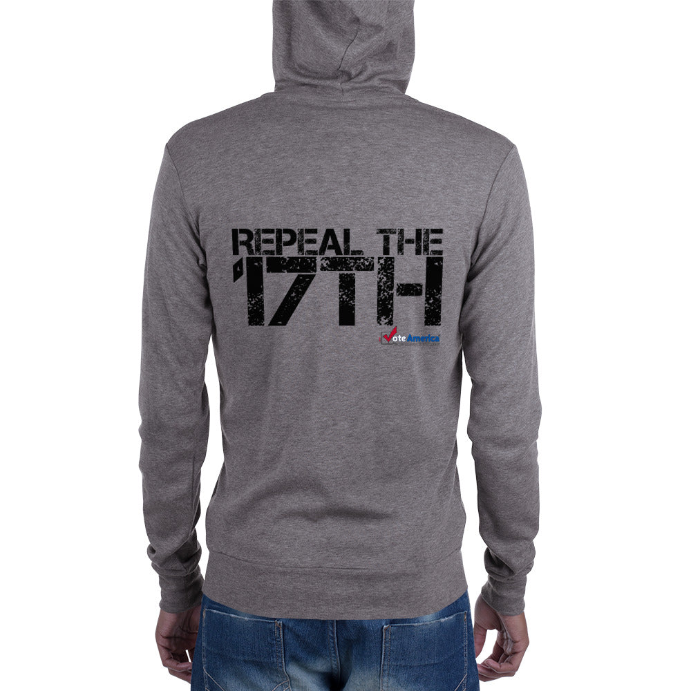 Repeal the 17th zip hoodie