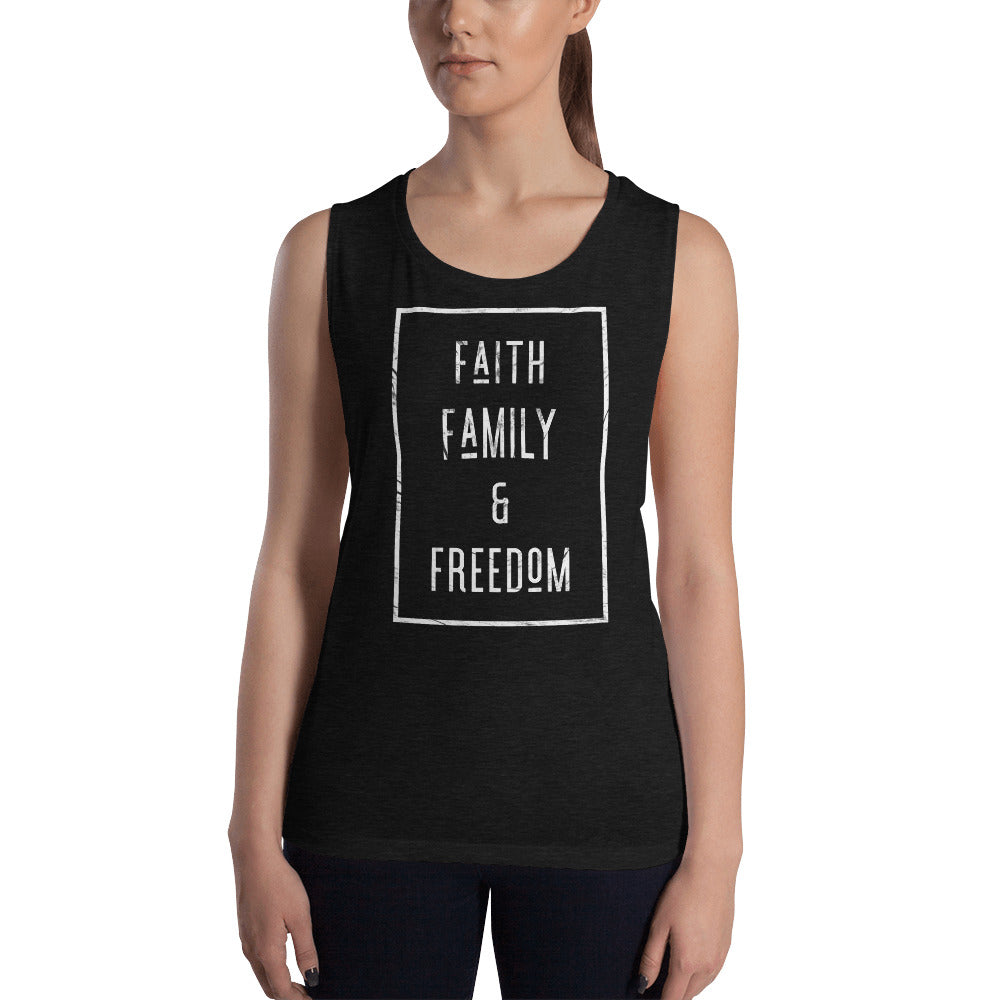 Faith Family & Freedom Ladies' Muscle Tank