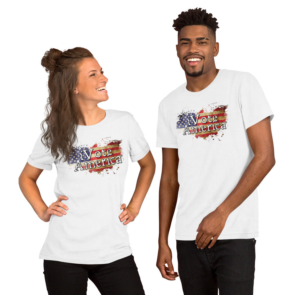 iVoteAmerica Flag Shirt Short-Sleeve Unisex T-Shirt