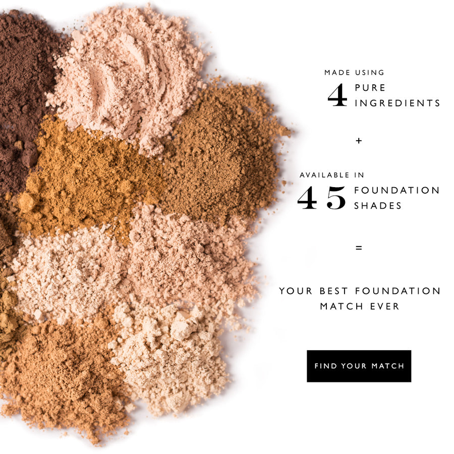 Satin Matte Foundation is made using 4 pure ingredients and is available in 45 shades