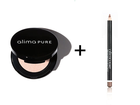 Alima Pure Pressed Eyeshadow in Isla and Natural Definition Brow Pencil