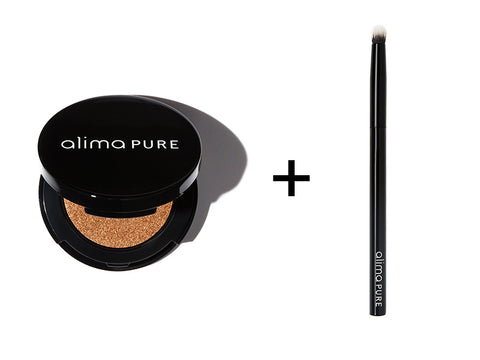Alima Pure Pressed Eyeshadow in Luxe and the Contour Shadow Brush
