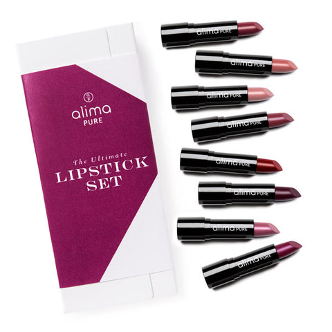 The Ultimate Lipstick Set includes Eight Velvet Lipsticks
