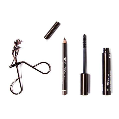 Gift with Purchase includes Natural Definition Eye Pencil in Patina, Mascara in Brown, and an Eyelash Curler