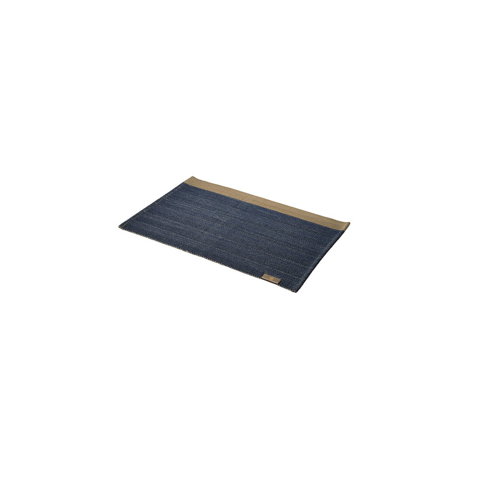 Placemats Herringbone Deep Blue (2x)