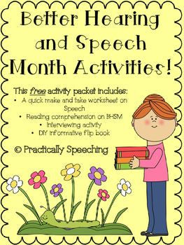 Better Hearing and Speech Month Activities