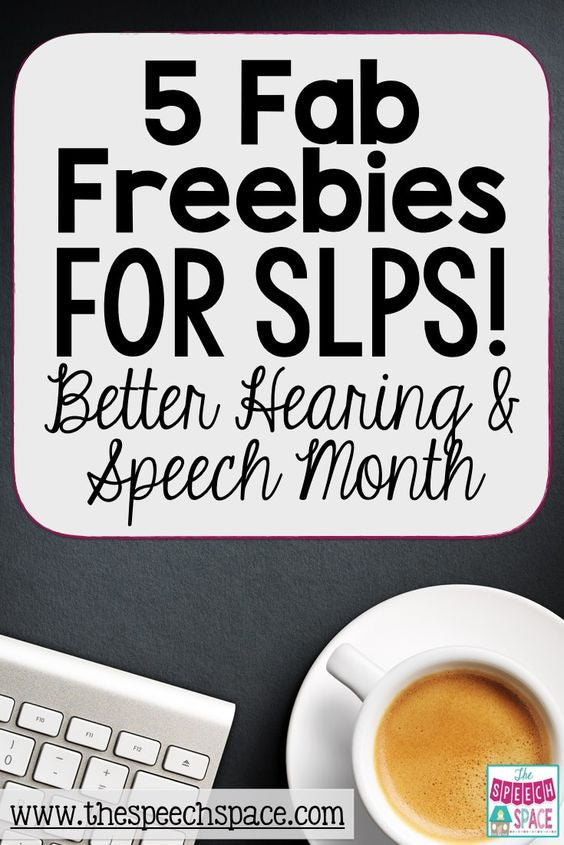 Better Hearing and Speech Month Freebies