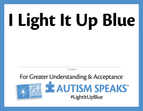 I Light It Up Blue Printable