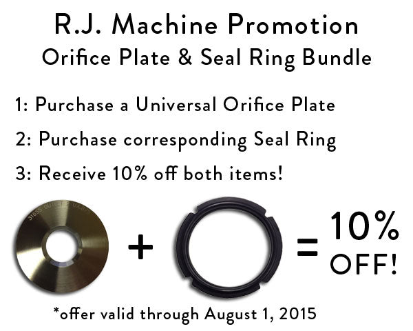 RJ Machine Orifice Plate and Seal Ring Bundle Promotion