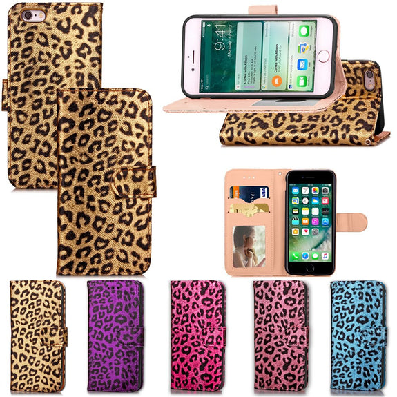 5.5 Inch Sexy Women Leopard Print Wallet For IPhone 6 6s Plus Case Cov c7fa89634