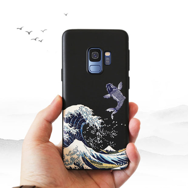 A9S Case For Samsung Galaxy A9S A9 2018 Star Pro Case 6.3'' 3D Relief Matte Soft Back Cover LICOERS Official Case Fundas Caphina