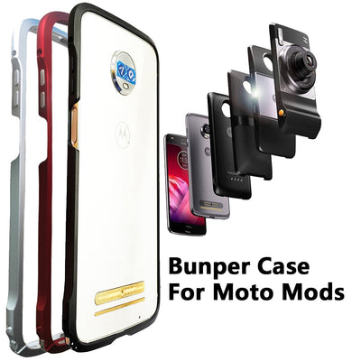 Bumper Case For Motorola Moto Z3 Play Z2 Play Z2 Force Compatible Moto Mods Shockproof Aluminum Metal Frame Bumper Cover