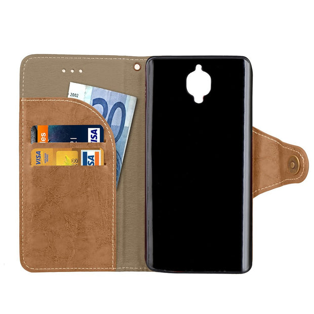 Case For OnePlus 3T OnePlusThreeT A3010 Wallet Flip Phone PU Leather Cover For OnePlus Three T OnePlus3T A 3010 Silicone Capa