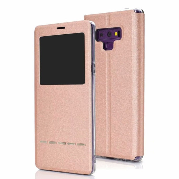 Case For Samsung Galaxy Note 9 Smart Flip Cover Note 9 Case Window View Soft Protect Phone Case For Galaxy Note 9 Case KimTHmall