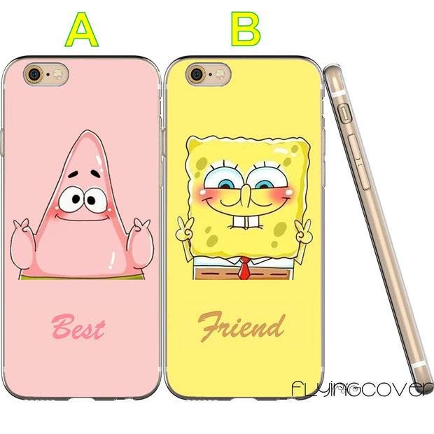 Coque SpongeBob Patrick Best Friend Clear Soft TPU Silicone Cover For IPhone X 7 8 Plus 5S 5 SE 6 6S 5C 4S 4 IPod Touch 6 5 Case