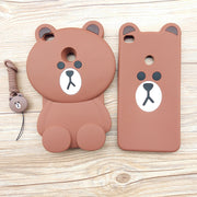 "Cute Cartoon 3D Bear Phone Case For Xiaomi Mi Max 2 Case 6.44"" Soft Silicone Cover Fundas Coque Capa For Xiaomi Mi Max 2 Max2"