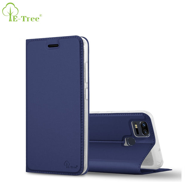 finest selection ca967 64f8c E-Tree Brand Luxury Flip Cover For Asus Zenfone 3 Zoom Ze553kl Case Wallet  Leather Case For Asus Zenfone 3 Zoom Ze553kl Cover