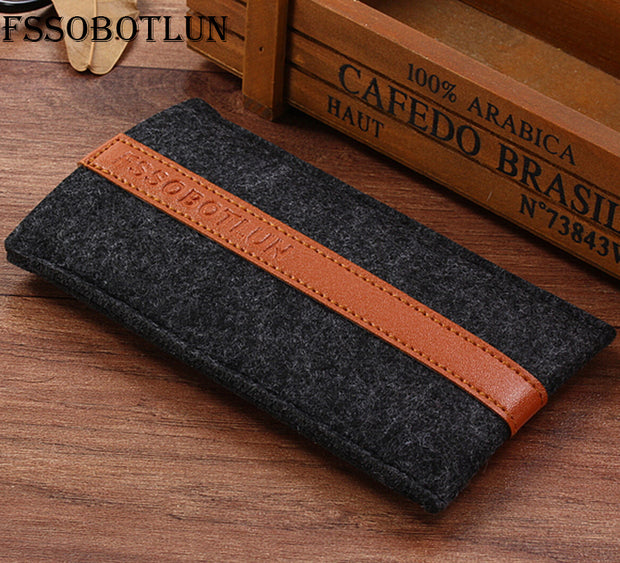 "FSSOBOTLUN,2 Styles,For 4Good People S555m 4G 5.5"" Phone Pocket Cover Sleeve Pouch Case Handmade Wool Felt Protective Case Bag"