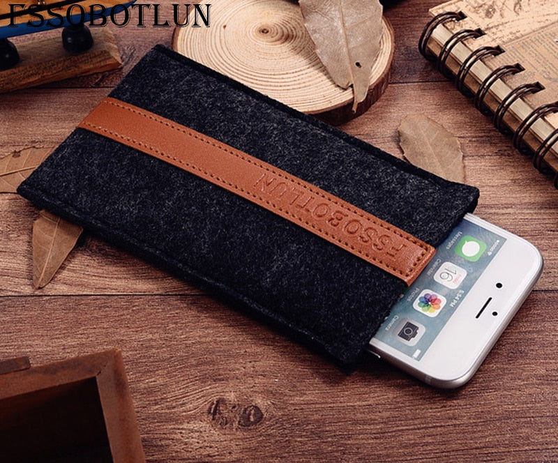 FSSOBOTLUN,2 Styles,For ASUS ZenFone Max Plus M1 ZB570TL Case Pocket Cover Sleeve Pouch Handmade Wool Felt Protective Case Bag