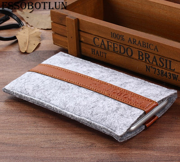 FSSOBOTLUN,2 Styles,For Acer Liquid Zest Plus Z628 Phone Pocket Cover Sleeve Pouch Case Handmade Wool Felt Protective Case Bag