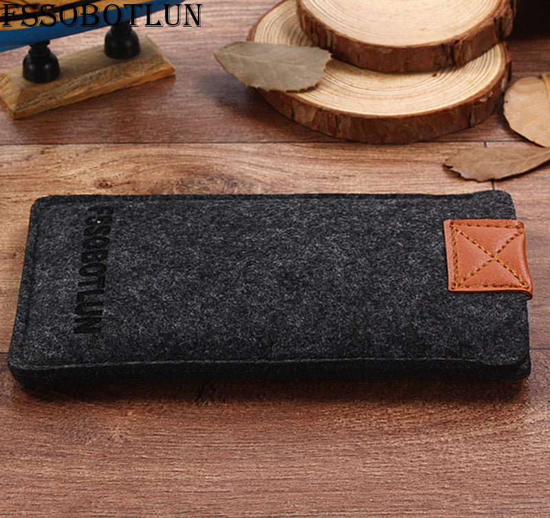 "FSSOBOTLUN,2 Styles,For Alcatel A5 5085Q 5.2"" Phone Pocket Cover Sleeve Pouch Case Handmade Wool Felt Protective Case Bag"