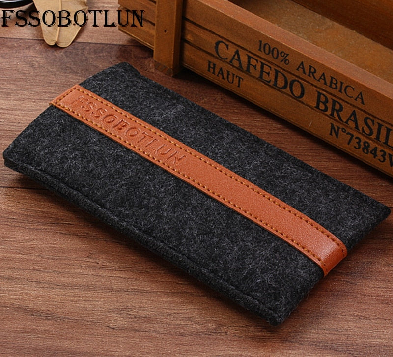FSSOBOTLUN,2 Styles,For Samsung Galaxy J2 (2016) Sleeve Case Pocket Cover Handmade Wool Felt Protective Pouch Case Bag