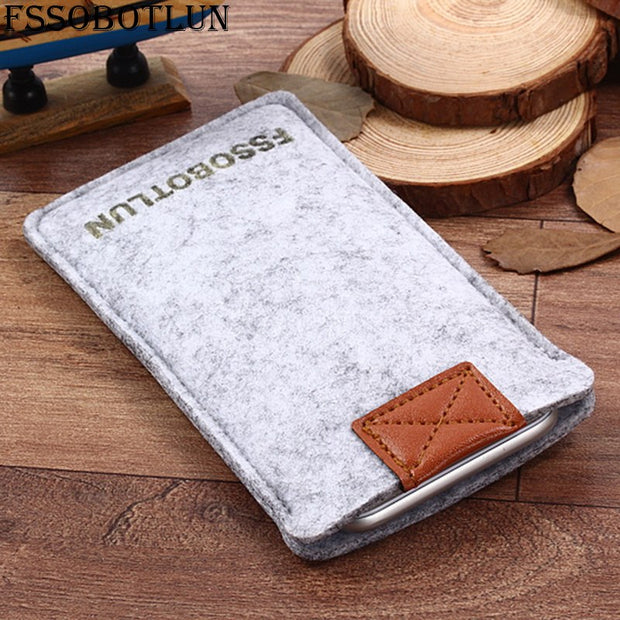"FSSOBOTLUN,2 Styles,For Samsung Galaxy J2 Prime 5.0"" Sleeve Case Pocket Cover Handmade Wool Felt Protective Pouch Case Bag"