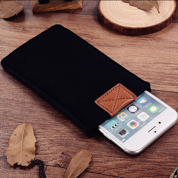 "FSSOBOTLUN,2 Styles,For Samsung Galaxy J5 (2017) 5.2"" Sleeve Pocket Case Cover Handmade Wool Felt Protective Pouch Case Bag"