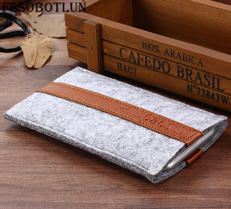 "FSSOBOTLUN,2 Styles,For Samsung Galaxy On Max 5.7""Sleeve Pocket Case Cover Handmade Wool Felt Protective Pouch Case Bag"