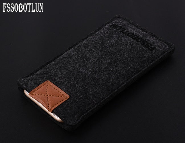 FSSOBOTLUN, 3 Colors,Business Style Handmade Wool Felt Sleeve Bag Pocket Pouch Phone Protector Cover For ZTE Nubia Z17 MiniS 5.2