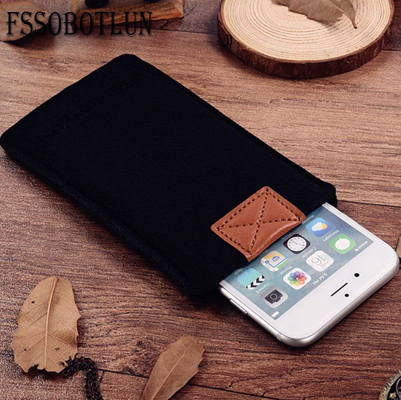 FSSOBOTLUN,3Colors,For Acer Jade Primo Phone Case Pocket Bag Protector Pouch Protective Cover Handmade Wool Felt Sleeve