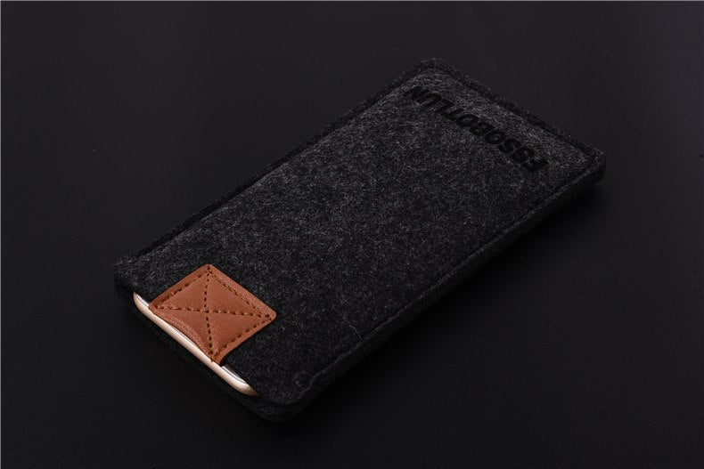 FSSOBOTLUN,3Colors,For Alcatel Idol 5 6058D Phone Case Pocket Bag Protector Pouch Protective Cover Handmade Wool Felt Sleeve
