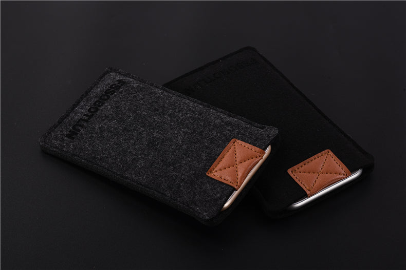"FSSOBOTLUN,3Colors,For Alcatel POP 4 6"" 7070X Phone Case Pocket Bag Protector Pouch Protective Cover Handmade Wool Felt Sleeve"